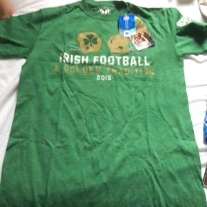 Green T-shirt Notre Dame game shirt